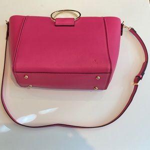 Kate Landry Pink Ring Handle Bag